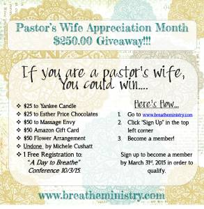 Pastor's Wife Giveaway
