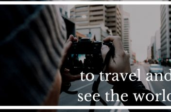 to travel and see the world