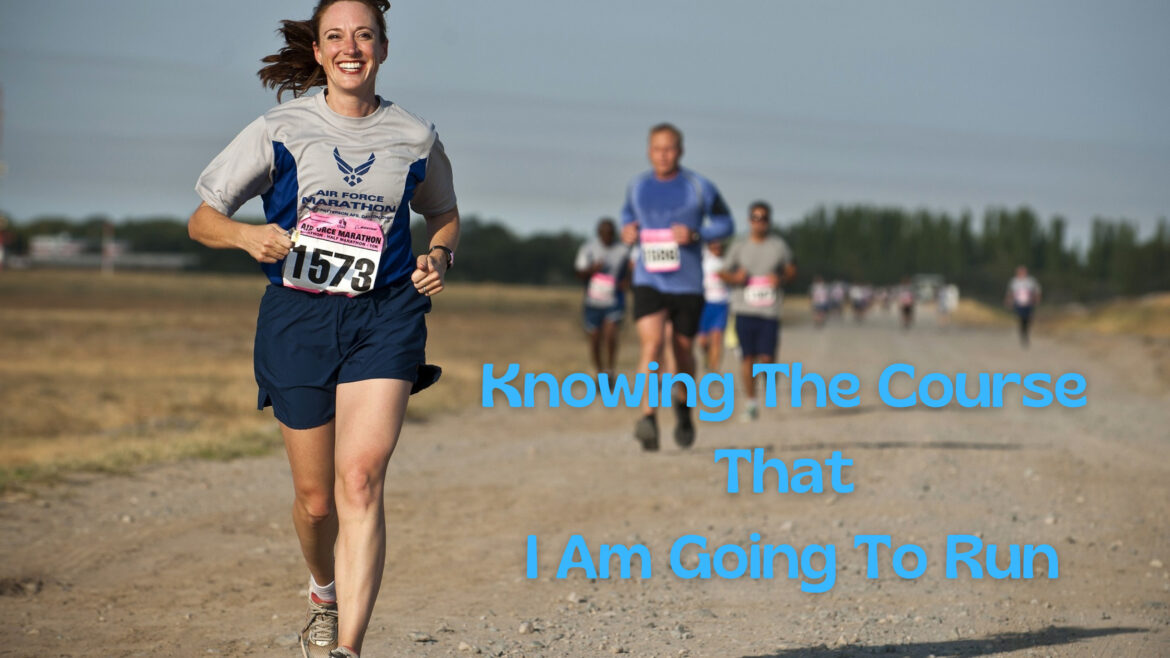 Knowing the Course that I am going to run Breathe ministry